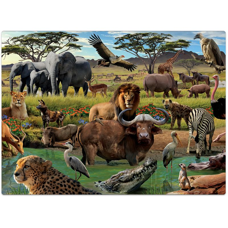 Quebra-Cabeca---1000-Pecas---Savana-Africana---Toyster-1