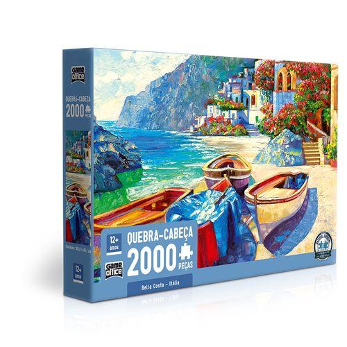 Quebra-Cabeça -  2.000 Peças - Game Office - Bella Costa - Toyster