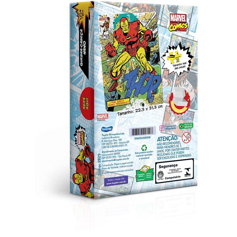 Quebra-Cabeca---500-Pecas-Nano---Game-Office---Marvel---Homem-de-Ferro---Toyster-1