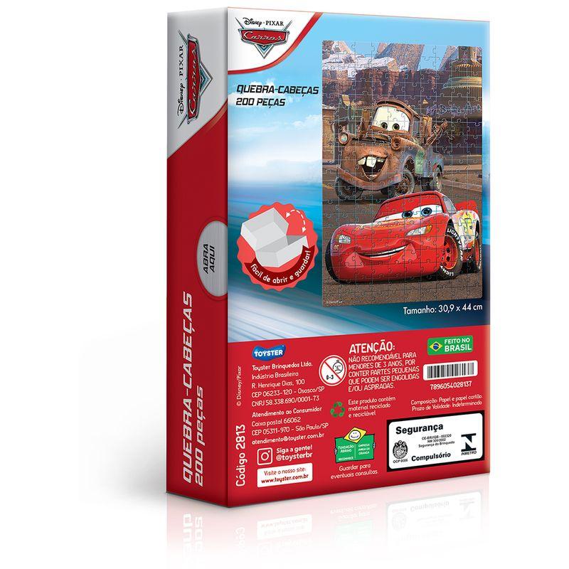 Quebra-Cabeca---200-Pecas---Disney---Carros---Toyster-1