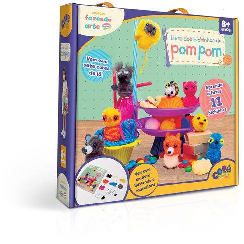 Kit de Atividades - Coleção Fazendo Arte - Coré - Bichinhos de Pompom - Toyster
