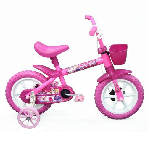 Bicicleta Aro 12 - Arco Íris Pink - TK3 Track