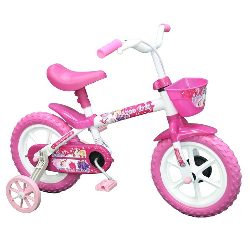 Bicicleta-Aro-12----Arco-Iris-Branco-e-Pink---TK3-Track-1