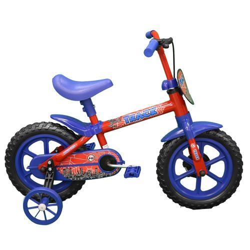 Bicicleta Aro 12 - Arco Íris Vermelho e Azul - TK3 Track
