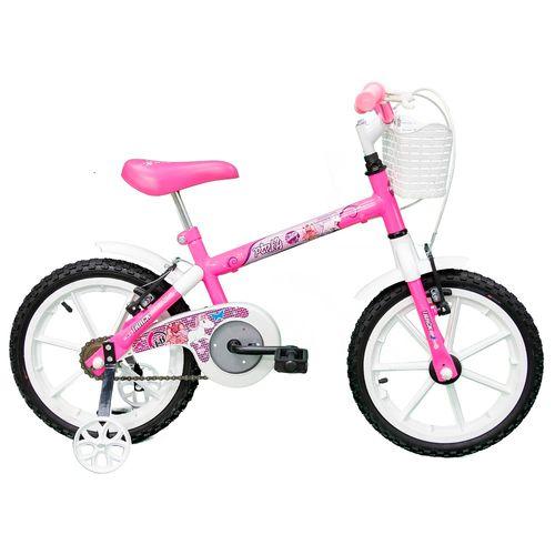 Bicicleta Aro 16 - Branco e Pink - TK3 Track