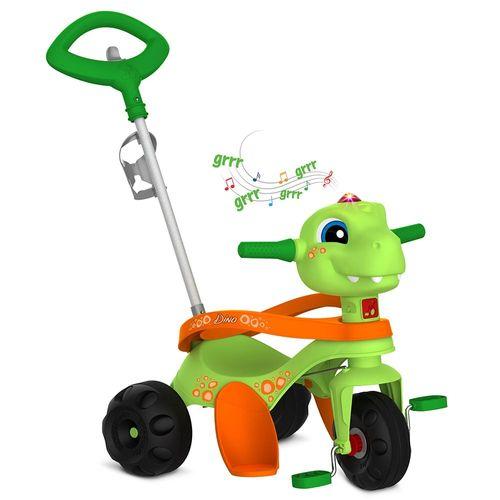 Triciclo - Passeio e Pedal - Zootico - Dino - Verde - Bandeirante