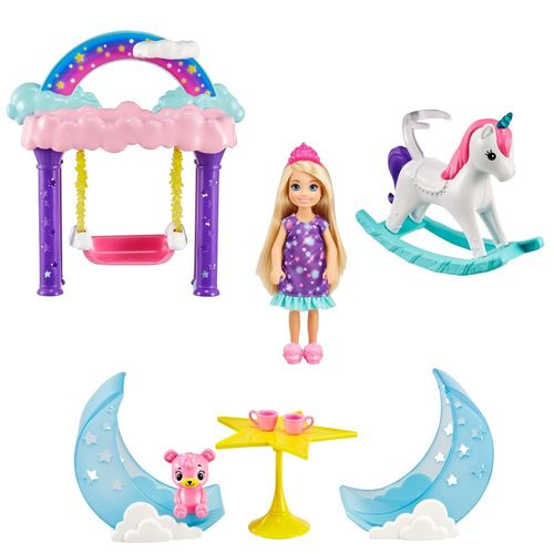 Barbie Dreamtopia - Conjunto Chelsea - Balanço De Nuvens - Mattel