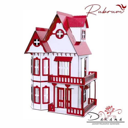 Kit Casinha Bonecas Polly Mirian + 34 Moveis R+b - Darama