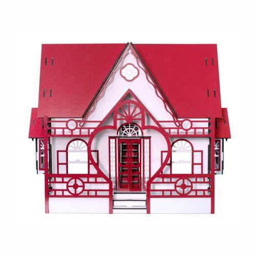Casa de Boneca Escala Polly Modelo Megan RUBRUM- Darama