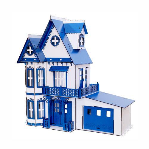 Casa de Bonecas Escala Polly Modelo Anne Lazuli Com Garagem - Darama