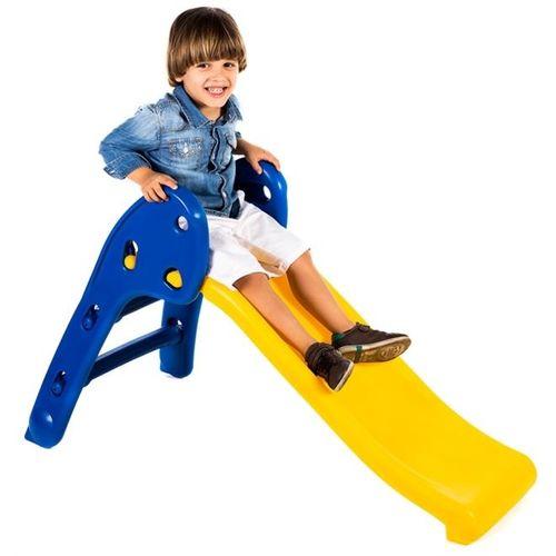 Escorregador Baby Divertido - Escada Azul e Rampa Amarela