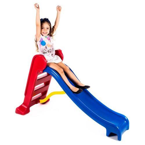 Escorregador Médio Divertido - Escada Vermelha e Rampa Azul