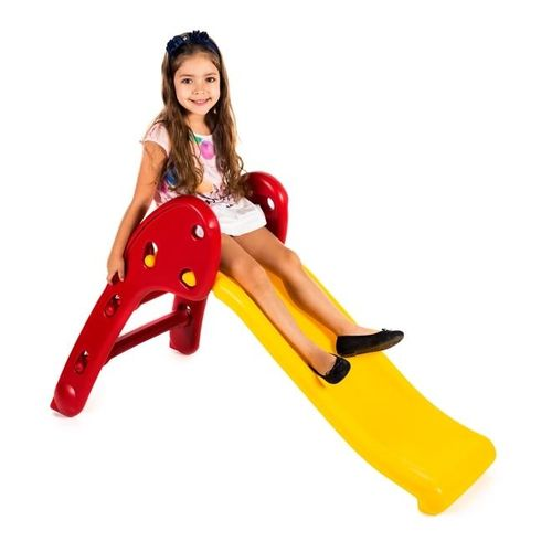 Escorregador Baby Divertido - Escada Vermelha e Rampa Amarela