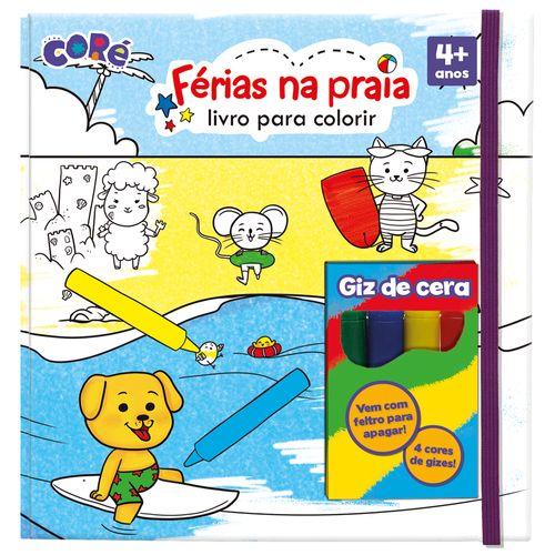 Livro de Atividades com Giz - Coré - Férias na Praia - Toyster