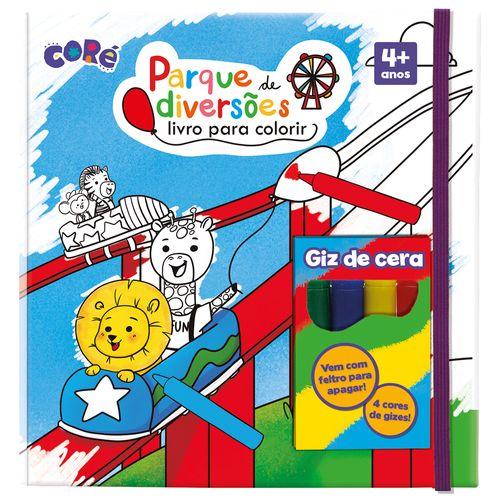 Livro de Atividades com Giz - Coré - Parque de Diversões - Toyster