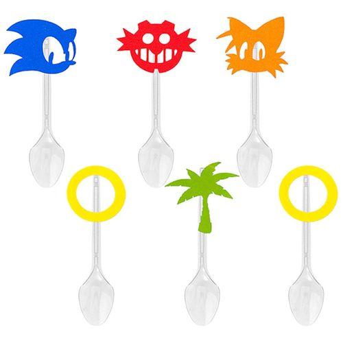Festa Sonic - Colher para Sobremesa com Aplique Sonic - 06 Un