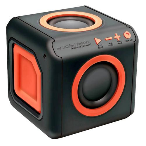 Caixa de Som Punch 15W Bluetooth 360 graus 4 Alto-Falantes Bass Booster AudioCube ELG PWC-AUDWD