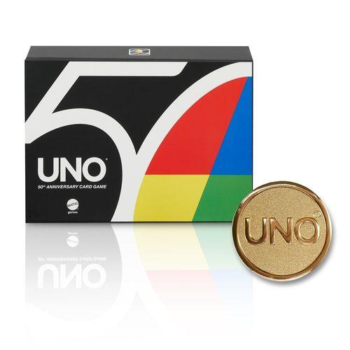 EXCLUSIVO - Jogo de Cartas - Uno - Aniversário 50 Anos - Mattel
