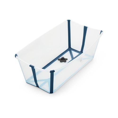 Banheira Dobrável - Stokke - Girotondo - Flexível e Leve - Com Plug Térmico - Azul