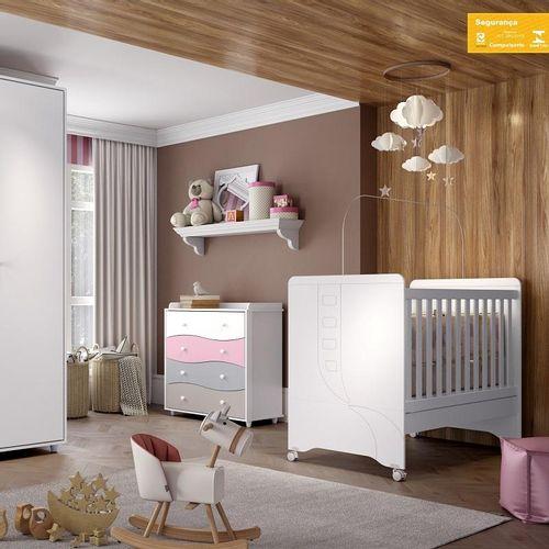 Cômoda Quarto Infantil Adoleta Flex com 4 Gavetas - Branco