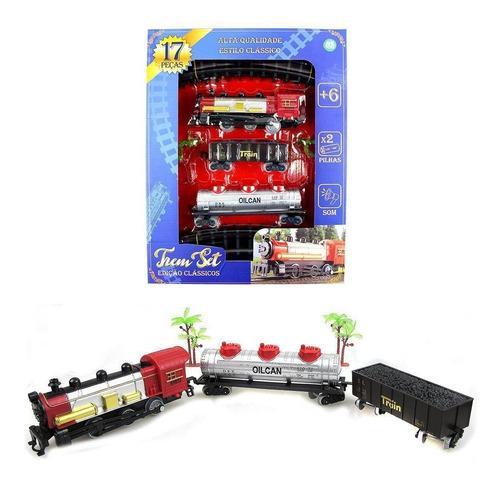 Trem Ferrorama Set Classicos Com Acessorios Com Som A Pilha
