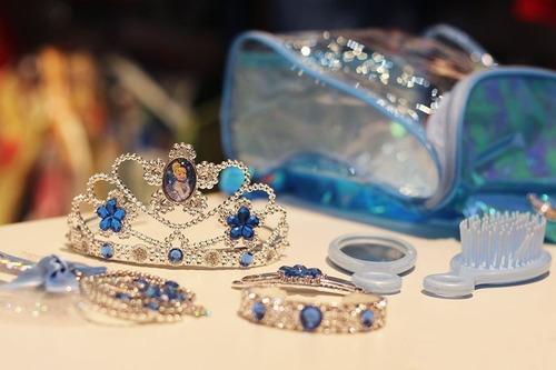 Mochilinha Cinderela Princesas Disney Com Tiara Varinha Escova de Cabelo Espelho Presilhas de Cabelo Bracelete