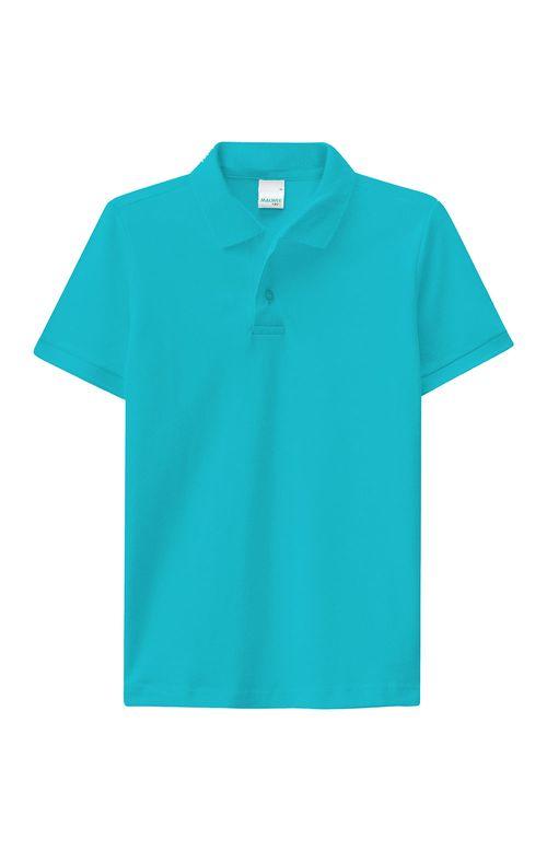 Camisa - Malwee Kids - Polo - Piquê Stretch - Azul Claro - Menino
