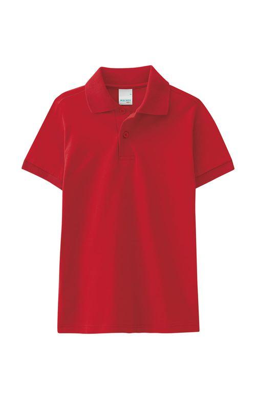 Camisa - Malwee Kids - Polo - Meia Malha - Vermelho - Menino