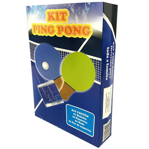 Kit Completo Ping Pong 2 Raquetes 1 Bolinha e Rede ASE815