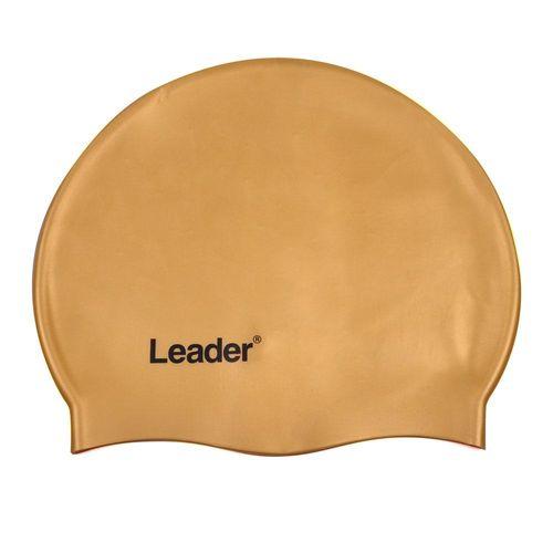 Touca para Natação de Silicone Leader LD453 Amarela