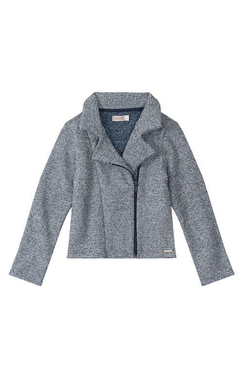 Jaqueta -  Carinhoso Kids -  Tweed  Com Lurex -  Azul Claro- Menina