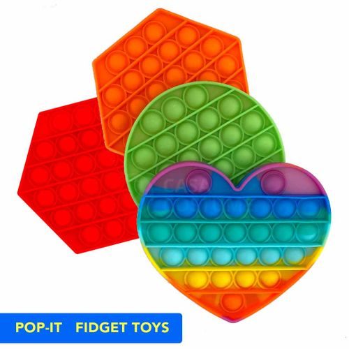 Pop It Original Fidget Toy Empurra Bolha Anti-stress Autismo Ansiedade Popit