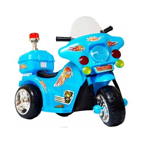 Mini Moto Infantil Elétrica Bateria Bivolt de 6v Gtr Azul Importway Bw006az
