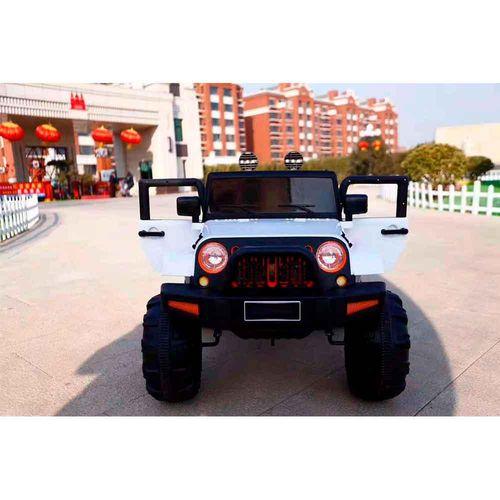 Mini Carro Elétrico Jipe Bateria Recarregável 12v com Controle Branco Importway Bw028br