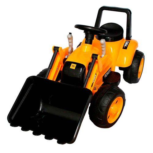 Mini Trator Escavadeira Elétrico Bateria Recarregável 6v Amarelo Importway Bw081am