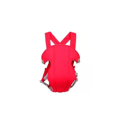 Canguru Porta Bebê em Poliéster com Babador Removível Vermelho Importway Iwpb03