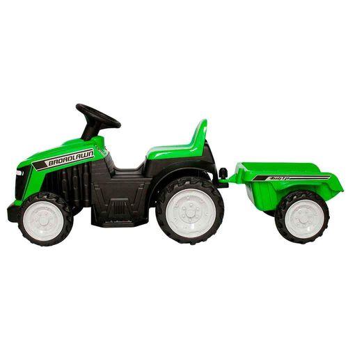 Mini Trator Infantil Elétrico com Reboque Bateria Recarregável Verde Importway Bw079vd