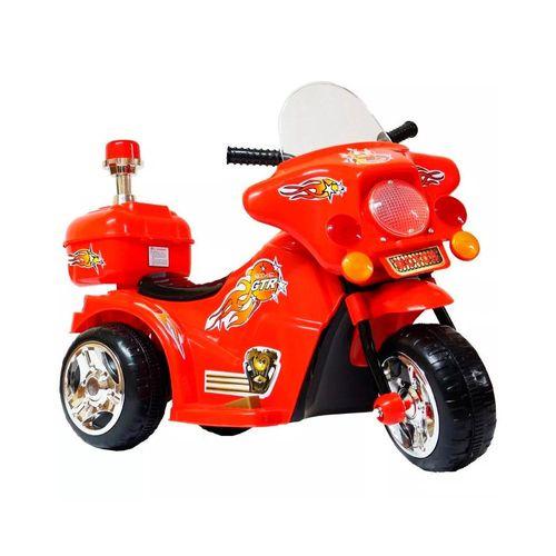 Mini Moto Infantil Elétrica Bateria Bivolt de 6v Gtr Vermelho Importway Bw006vm