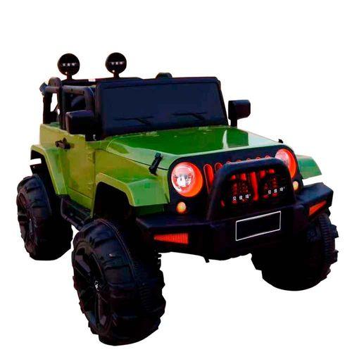 Mini Carro Elétrico Jipe Bateria Recarregável 12v com Controle Verde Importway Bw028vd