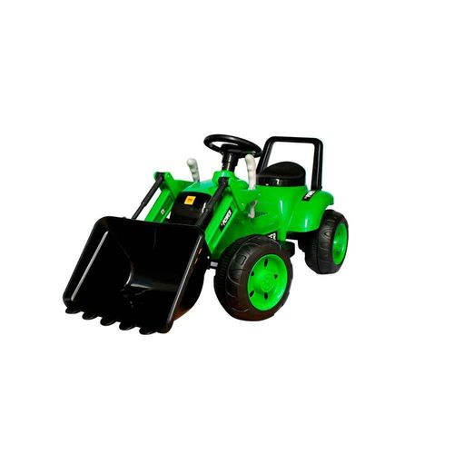 Mini Trator Escavadeira Elétrico Bateria Recarregável 6v Verde Importway Bw081am