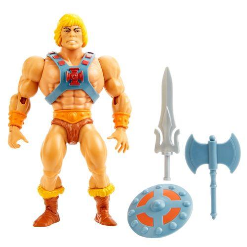 Figura de Ação Articulado - Masters Of The Universe - He-Man - Cabeça Vintage - Mattel