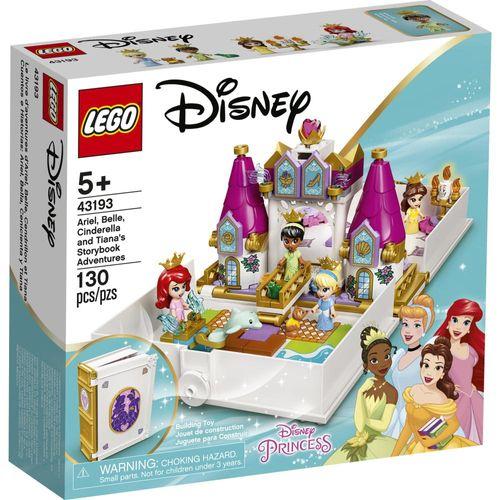 LEGO Disney - Livro de Histórias e Aventuras Ariel, Bela, Cinderela e Tiana - 43193