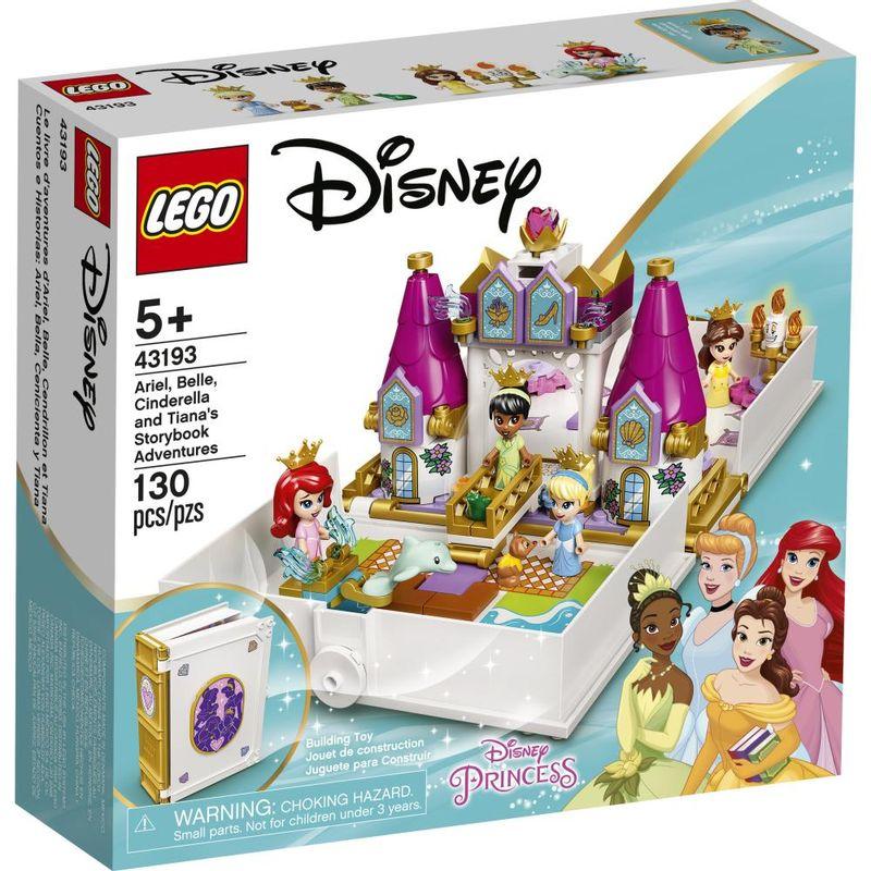 LEGO-Disney-Livro-de-Historias-e-Aventuras-Ariel-Bela-Cinderela-e-Tiana---43193-0