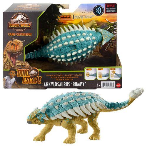 Figura Jurassic World - Ankylosaurus Bolota - Ruge e Ataca - Mattel
