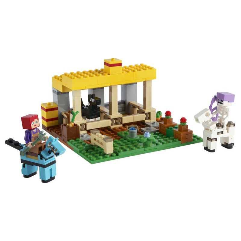 LEGO-Minecraft---O-Estabulo-de-Cavalos---21171-2