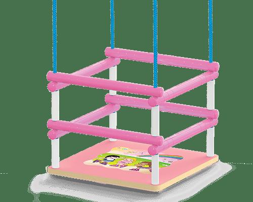 BALANÇO INFANTIL MADEIRA ROSA - JUNGUES 101