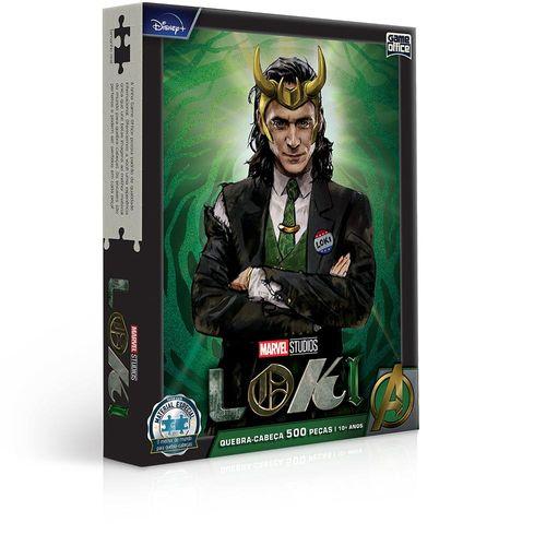 Quebra-Cabeça - Marvel - Loki - 500 Peças - Game Office - Toyster