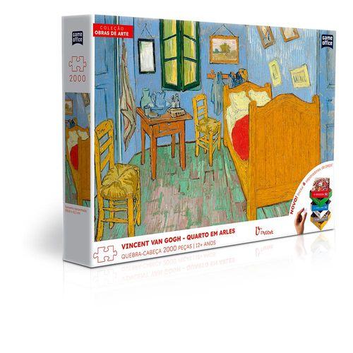 Quebra-Cabeça - Vincent Van Gogh - Quarto em Arles - 2000 Peças - Game Office - Toyster
