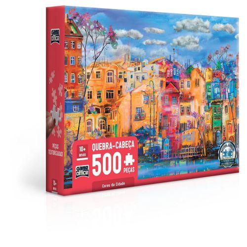 Quebra-Cabeça - Game Office - 500 Peças - Cores da Cidade - Toyster