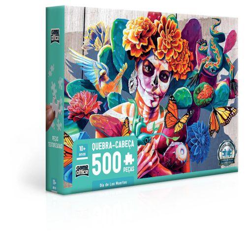 Quebra-Cabeça - Game Office - 500 Peças - Dia de Los Muertos - Toyster